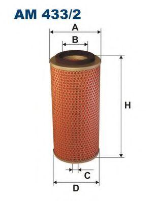 Фильтр воздушный H100/GALLOPER 2.5TD (C14140) AM 433/2