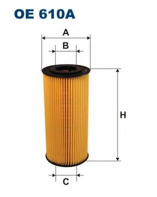 Фильтр масляный SPRINTER (OX123 / 1D) OE 610A