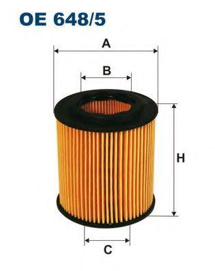 Фильтр масляный ASTRA H / VECTRA C 1.9D(HU711 / 4x) OE 648/5