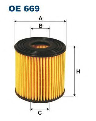 Фильтр масляный X-TRAIL 2.2D -03 (OX 192D) OE 669