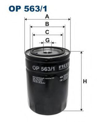 Фильтр масляный SCORPIO 2.5D -97 (W940 / 20) OP 563/1