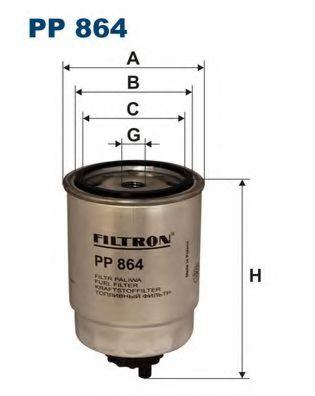 Фильтр топливный PEU.106 / BRAVO (KC51) PP 864