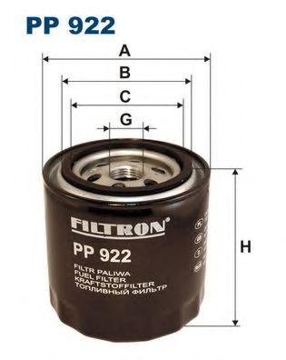 Фильтр топливный MAZDA E2200D (KC59) PP 922
