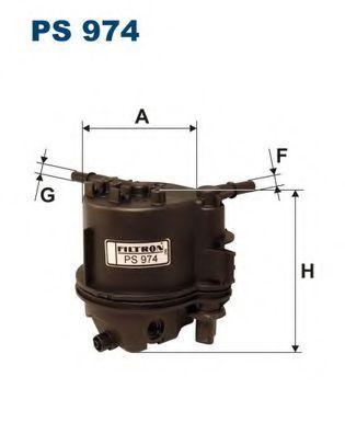 Фильтр топливный FUSION / C3 / PEU.107 1.4D (KL418) PS 974