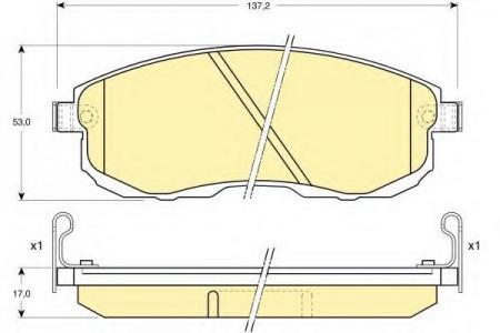 Колодки тормозные передние MAXIMA 2.0 89-> 6110039