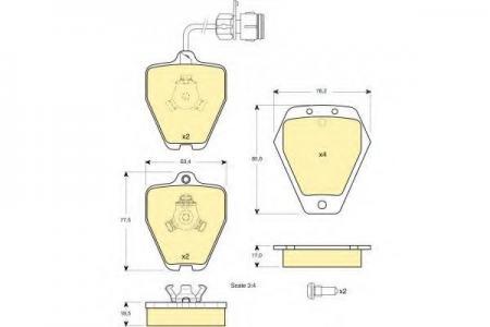 Колодки тормозные передние А6 Quattro / А8 4, 2 6113291