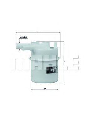 Фильтр топливный для MAZDA 323 1, 3/1, 6 16V 6/89-> KL206