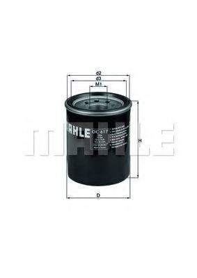 Фильтр масляный CR-V 2.0 / 2.4 / ACCORD 06- OC617