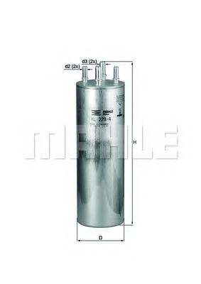 Фильтр топливный для VW двигатели AXB / AXD / AXE / BAC / AXC KL229/4