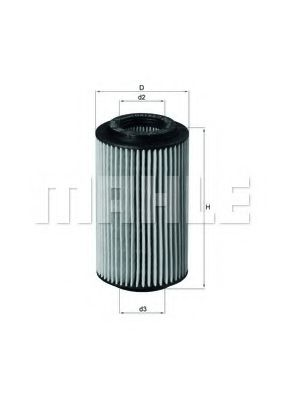 Фильтр масляный для MERCEDES двигатели M112 / M113 OX153/7D