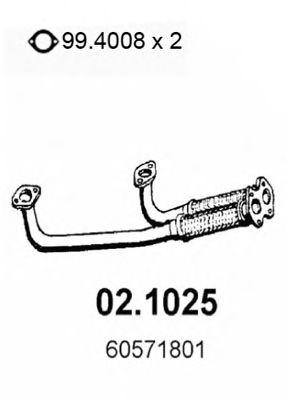Труба приемная выпускная ALFA 164 3.0 91 02.1025