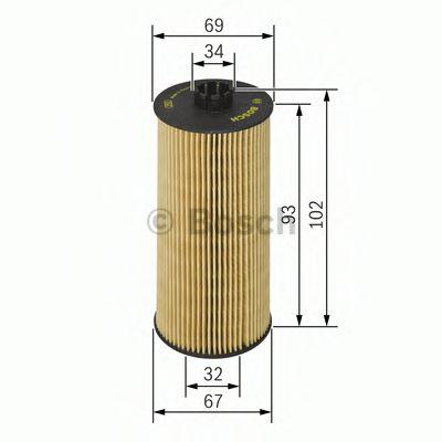 Фильтр масл. BMW E60 / E61 / E63 / E64 / E65 / X5 3.5-4.8 01 -> F026407010