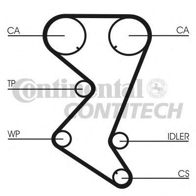 Ремень ГРМ Citroen C4 / C5; Peugeot 308 1.8 / 2.0 04 -> CT1110