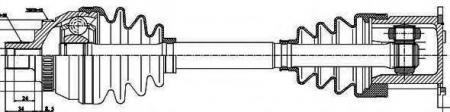 Привод в сборе +ABS SHARAN / GALAXY 1.8-2.8 98- 203022