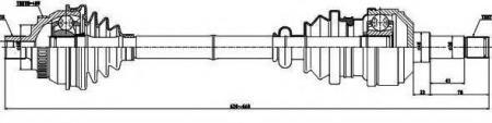 Привод в сборе лев.ABS SHARAN 1.9-2.8(302834) 218009