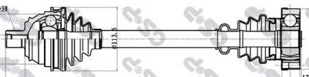 Привод в сборе VW T4 2.5 TDI 96-03 (302380) 261034