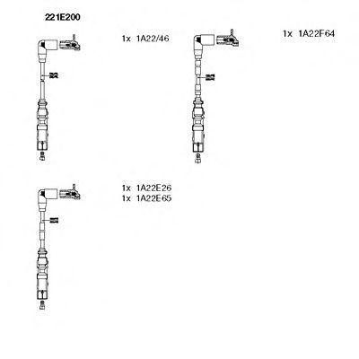 Высоковольтные провода (свечные) комплект для AUDI A4 / VW Passat B5 1, 6 двигатели ANA / ARM / AHL 221E200 BREMI