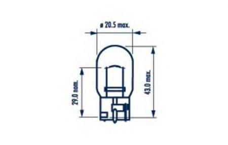 Сигнальные лампы для W21W 12V-21W (W3x16d) 17632