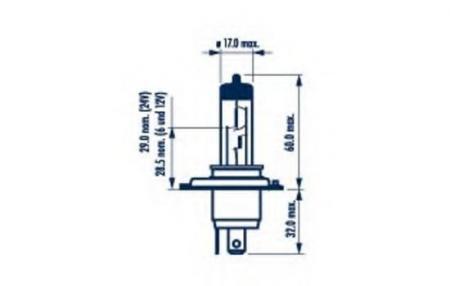 Лампа фары H4 60 / 55W 12V RPB 48677