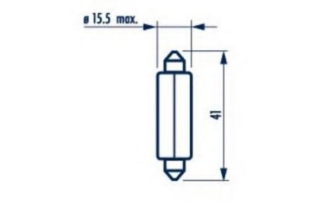 Сигнальные лампы для Fest T15 12V-18W (SV8, 5) 17512