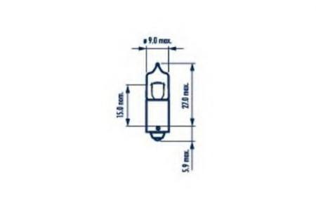 Лампа 12V H6W BAX9s подсв. галоген 68162