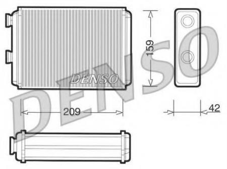 Радиатор отопителя FIAT DOBL DRR09070