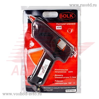 Пистолет клеевой 11мм 40Вт 220В BOLK BK87001 BK87001