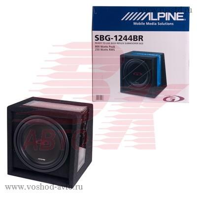 Сабвуфер ALPINE SBG-1244BR, 30см, в корпусе, 300вт SBG-1244BR