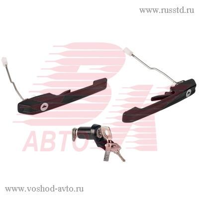 Ручки двери 2114 передние с замком багажника ДААЗ, 2114-6100040-20 / 21140610004020
